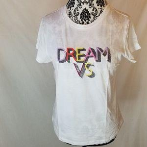 Victoria's Secret Dream VS Glitter White Sleep Tee